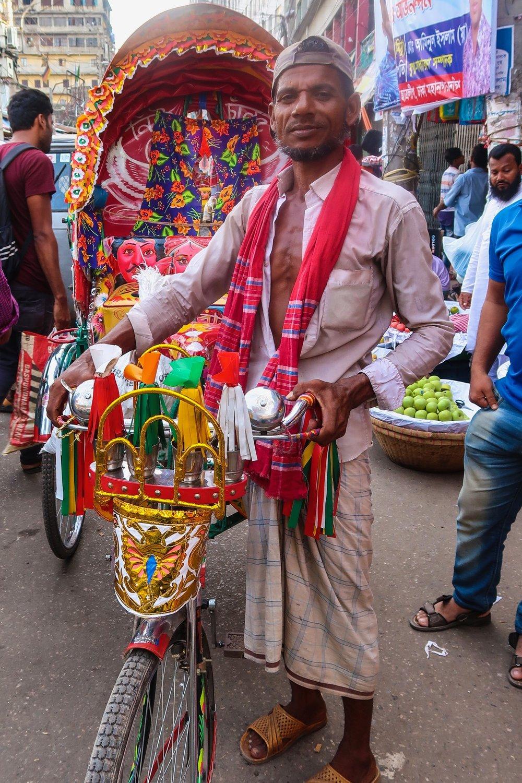 Cycle rickshaw driver Dhaka