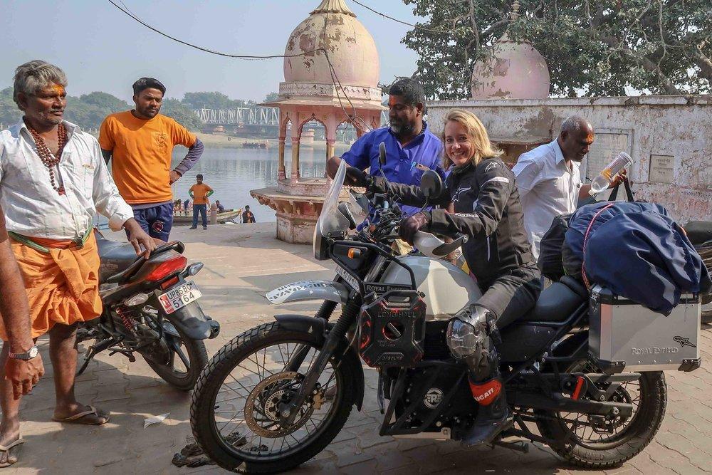 Arrival in Mathura on motorbike - Royal Enfield Himalayan