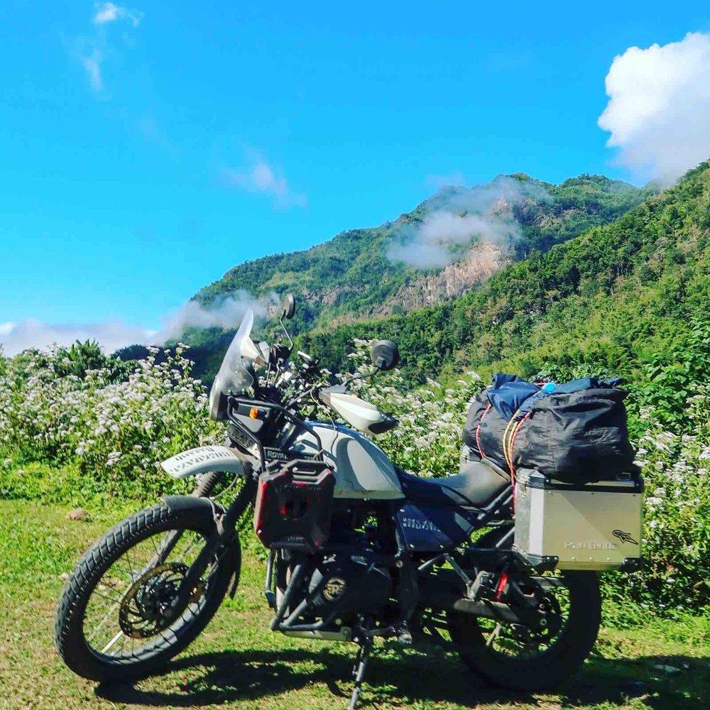 Riding through Shan State, Myanmar