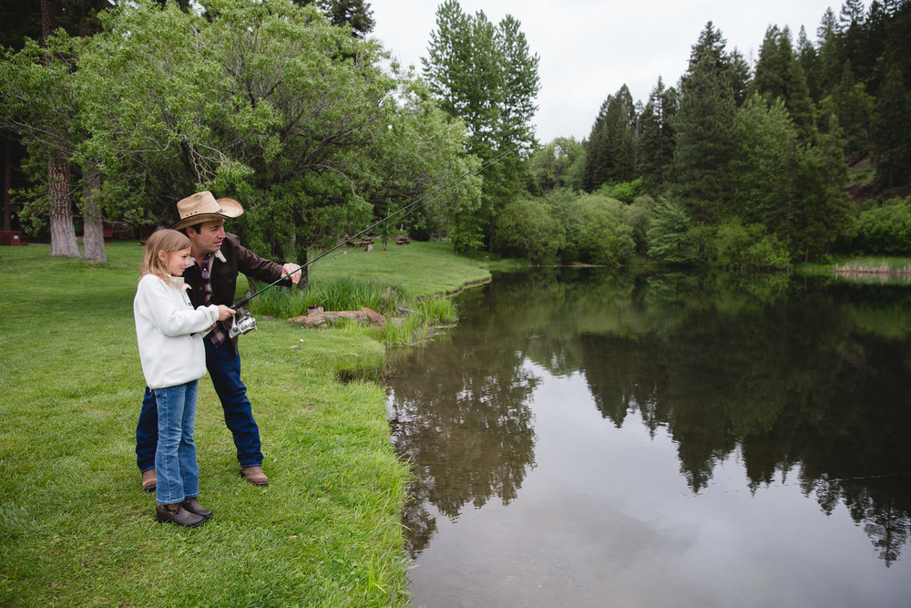 Fishing for families at Greenhorn Ranch