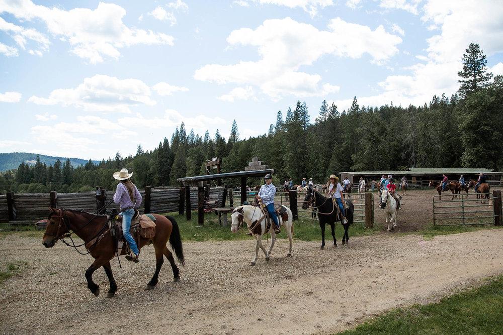 What happens on a dude ranch