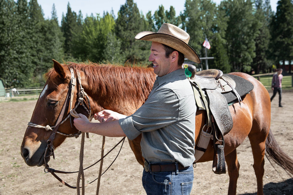 Beginner Riders at Greenhorn Ranch can learn basic riding skills while on vacation