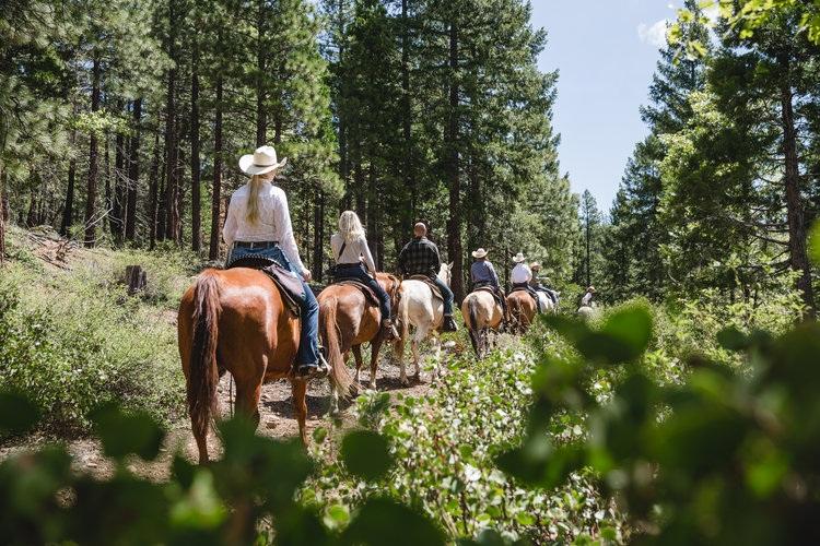 Riding at Greenhorn Ranch Women's Wellness Retreat