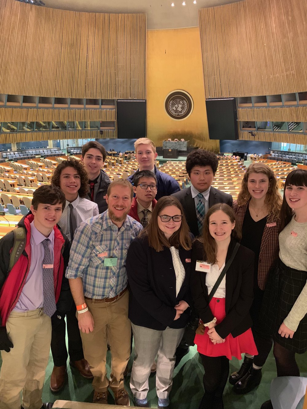 As part of their conference experience, students toured the United Nations.