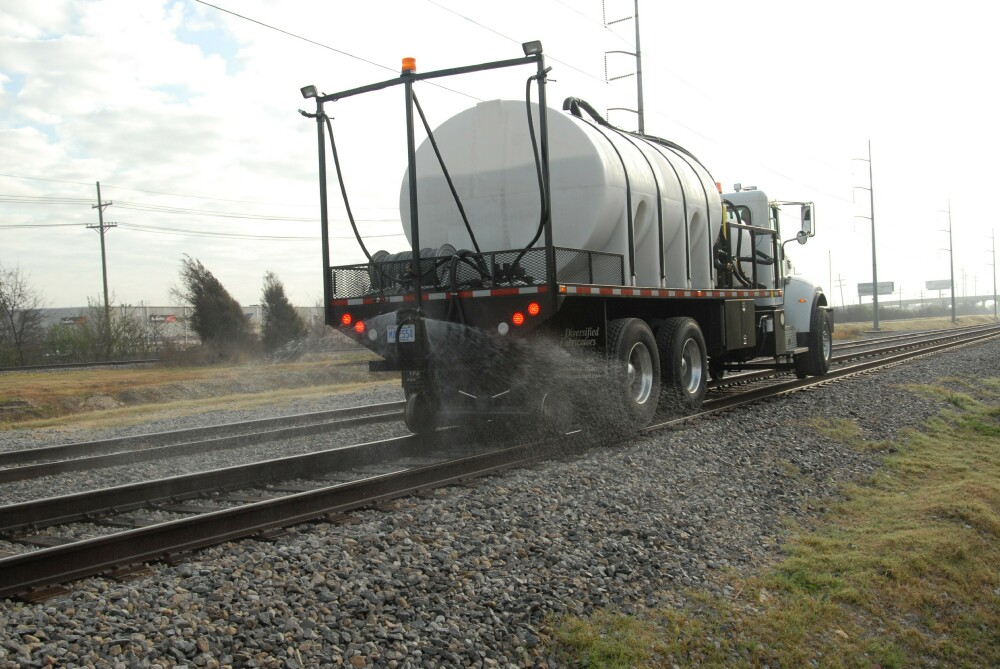 One of our extensive line of IVM chemicals being applied to rail tracts.