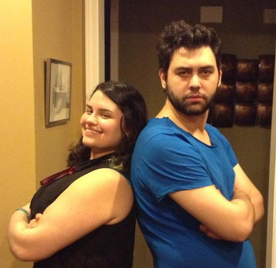 2013 Lauren (left) and Todd after discussing Spell Saga at their Aunt Cidny's house.