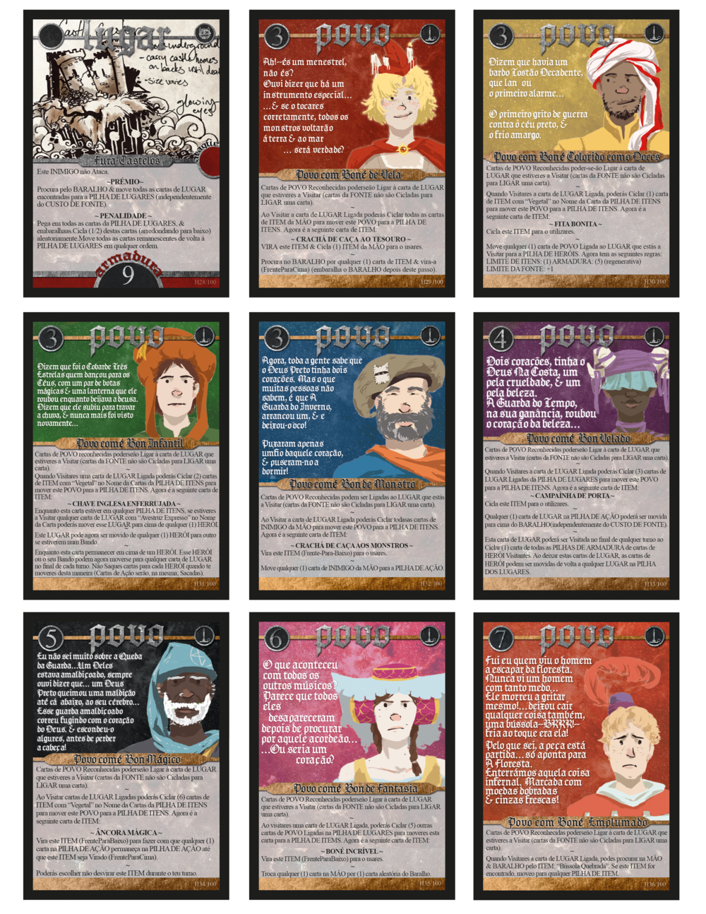2014/2015 Portuguese edition Folk cards by Todd, Lauren, & Dual Pistoleiro