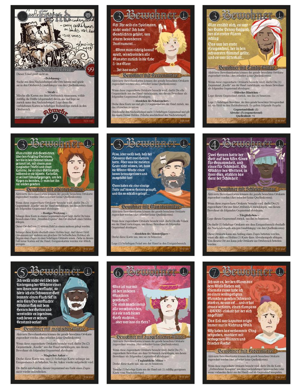 2014/2015 German edition Folk cards by Todd, Lauren, & Raimund Ruppel