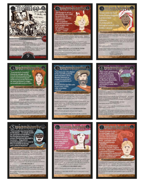 2016 Italian edition Folk cards by Todd, Lauren, & Emanuele Pierangelo