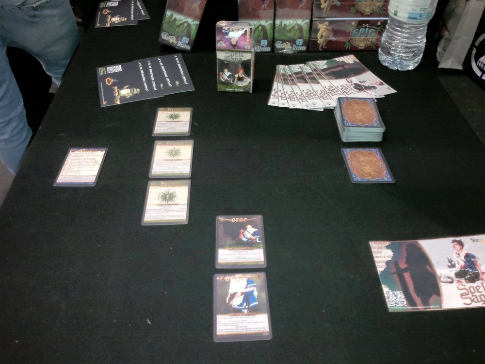2016 Spell Saga being shown by Fever Games at the 2016 PLAY faire in Italy.