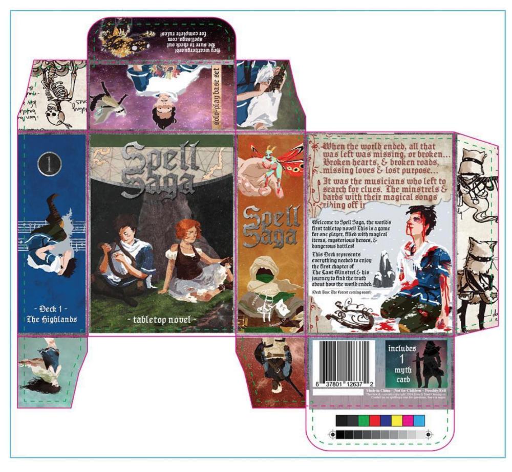 2016 final Spell Saga Deck One ~ The Highlands packaging mockup