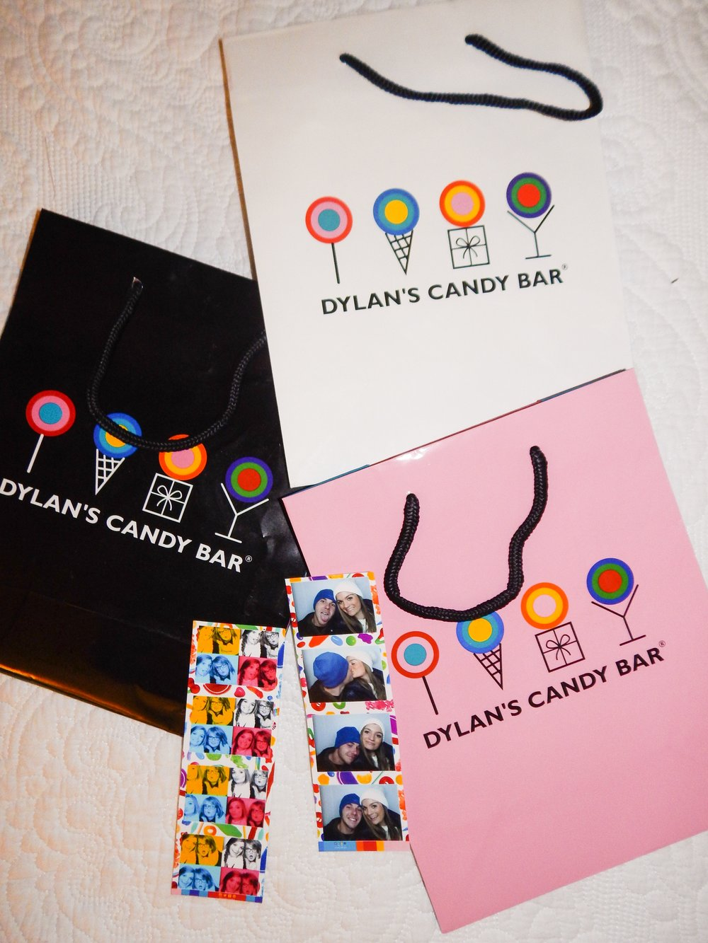 i love to collect shopping bags over time from my favorite stores! i think it is so fun that dylan's candy bar changes the color of their bags from time to time!
