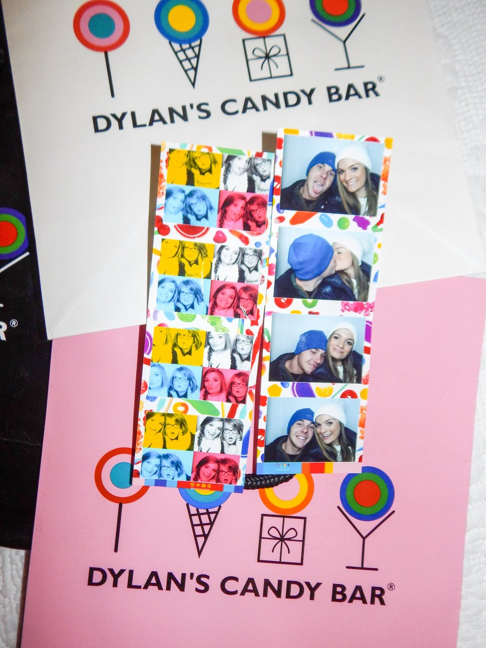 these are my photo strips from the photo booth located on the bottom floor of dylan's
