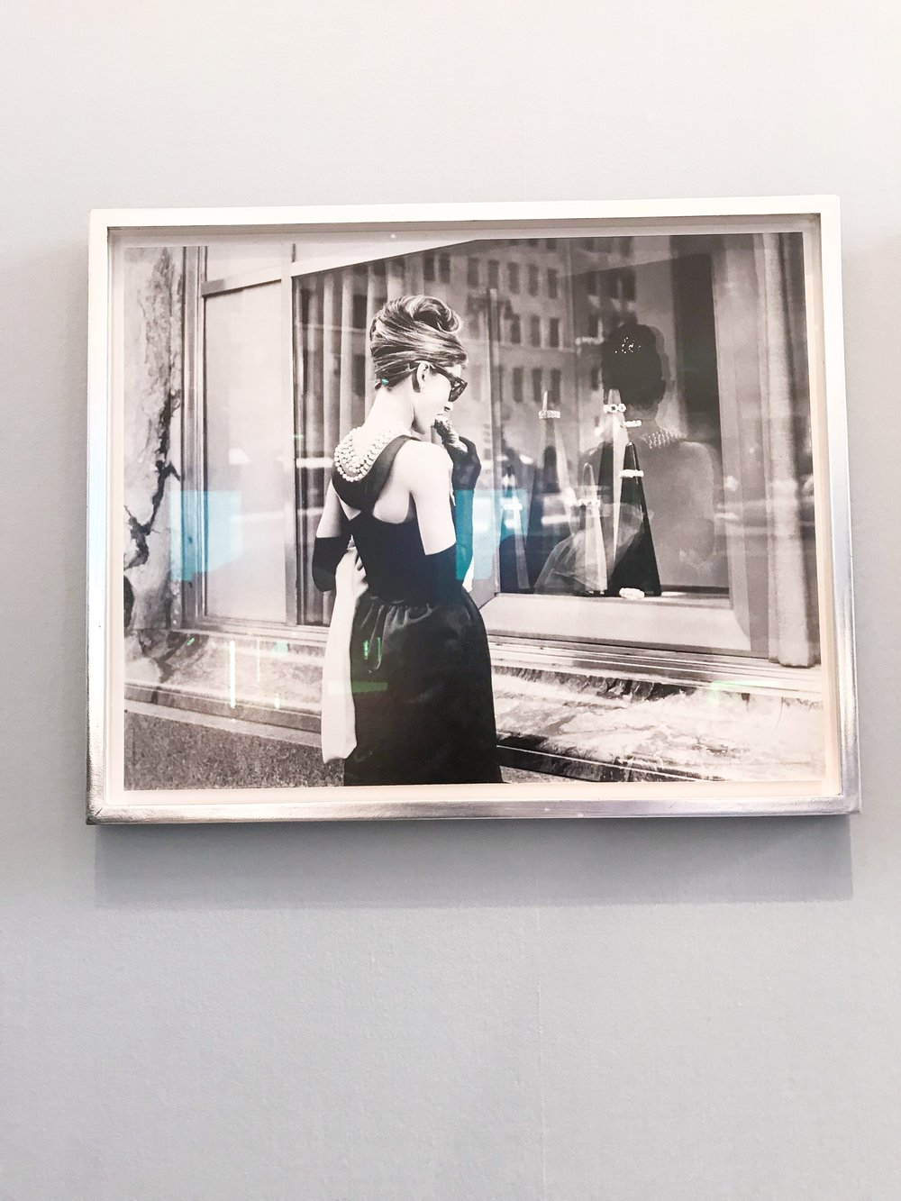 I love this framed photo from the opening scene of breakfast at tiffany's!