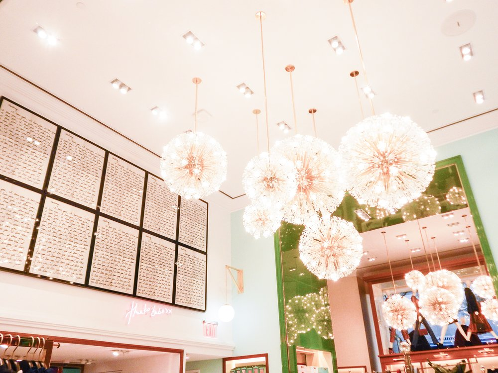 i love love love the wall colors here! i think this aesthetic is absolutely perfect! (rockefeller center)