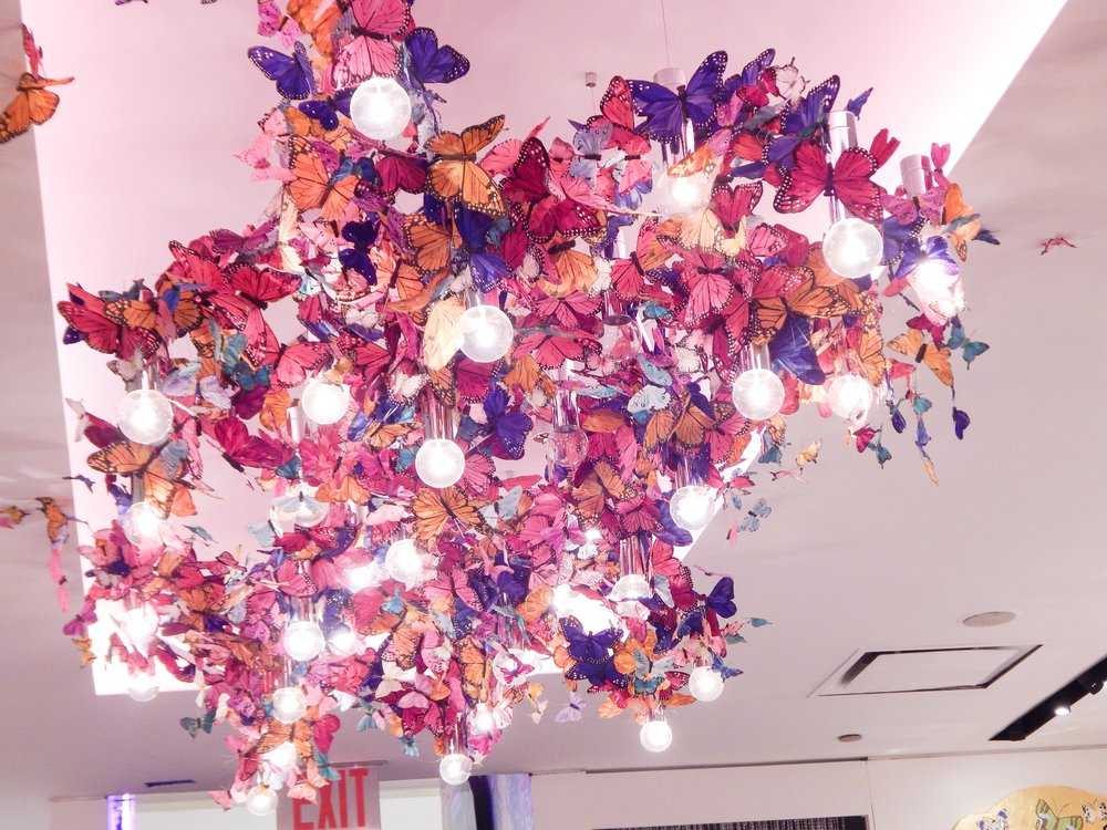 who couldn't love this lighting piece made of butterflies?!