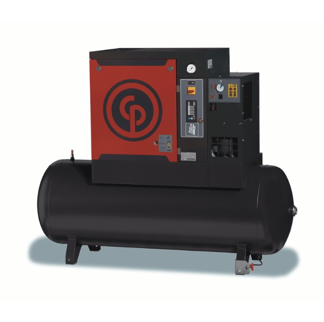 QRS 3-20  A 3-20 horsepower rotary screw compressor with optional integrated dryer and/or storage tank.