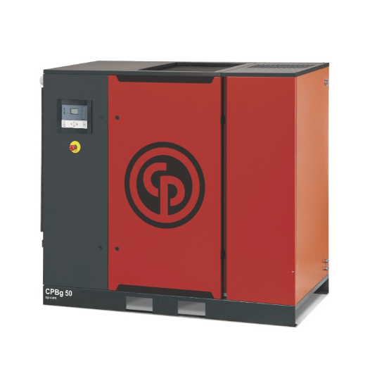 CPBg 35-50  A 35-50 horsepower gear drive rotary screw compressor with optional integrated dryer.