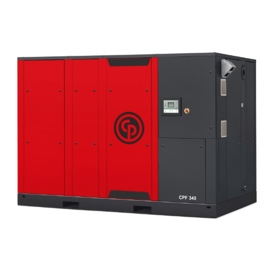 CPE/CPF 100-340  A 100-340 horsepower rotary screw compressor.