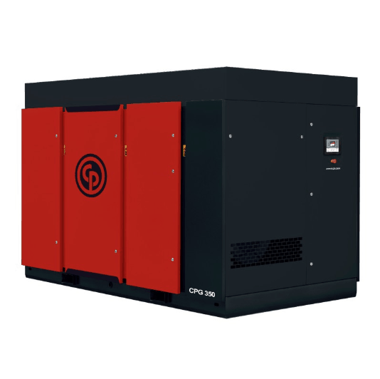 CPG 350-500  A 350-500 horsepower rotary screw compressor.
