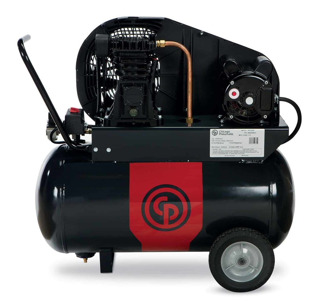 Single Stage Electric Compressors 2-3.5 hp  A 2-3.5 horsepower single stage electric compressor.