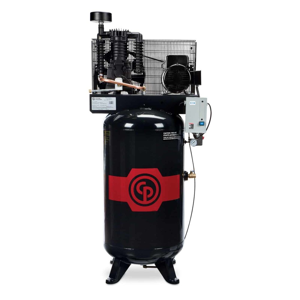 Two Stage Electric Air Compressors 5-7.5 hp  A 5-7.5 horsepower two stage electric air compressor.