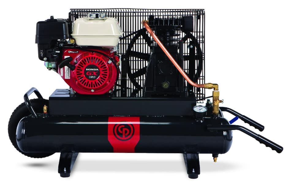 Contractor Series Gas Compressors 2-14 hp  A 2-14 horsepower portable gas compressor.