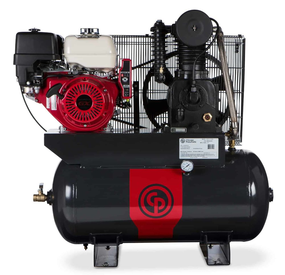 Two Stage Gas Iron Series Compressors 11-16 hp  A 11-16 horsepower two stage gas compressor.