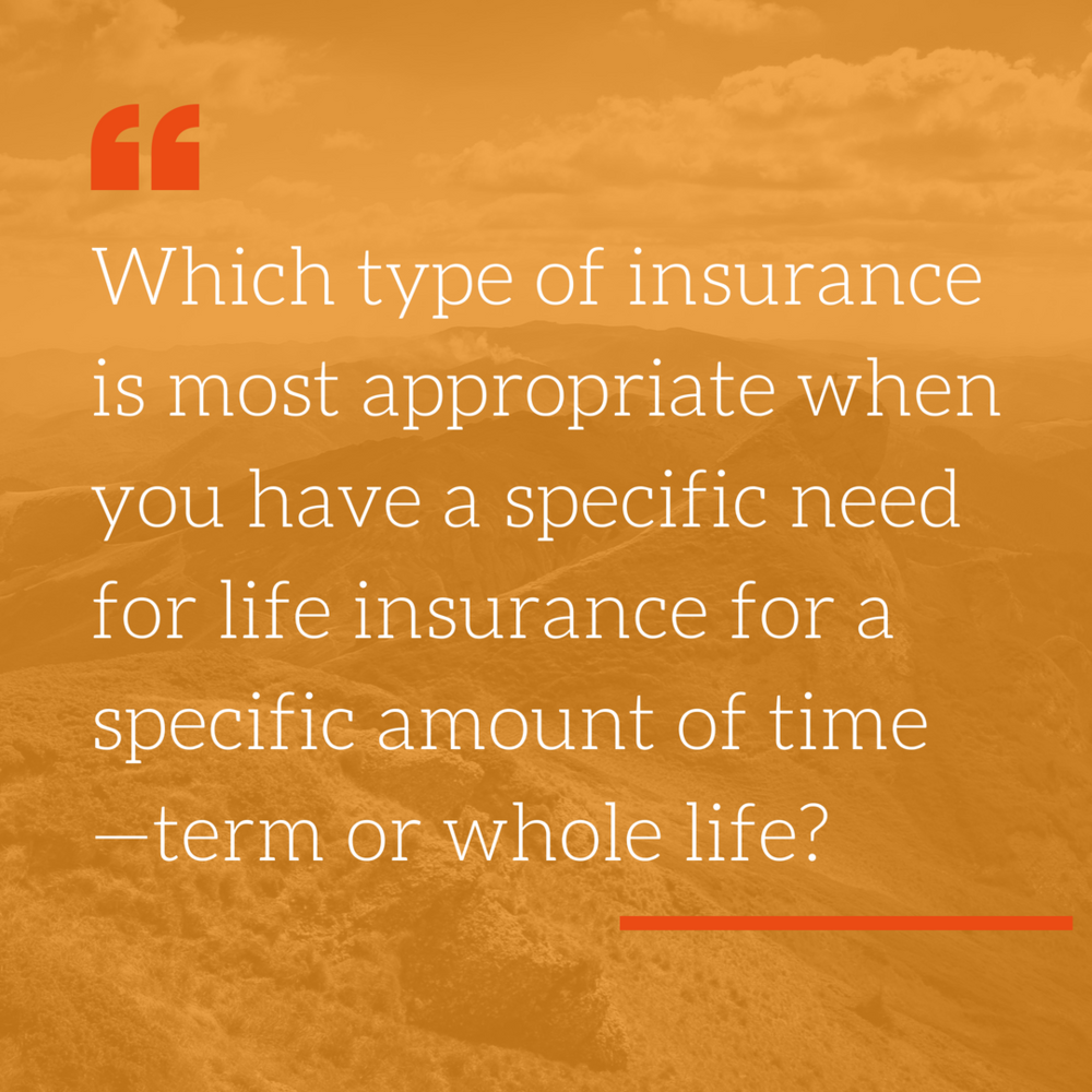 - OFFICIAL ANSWER: Term.LOUIS' ANSWER: Term is pure insurance, designed to provide you with a set payout if you die within a certain number of years. But that is not the only consideration when choosing between the two types of policies.