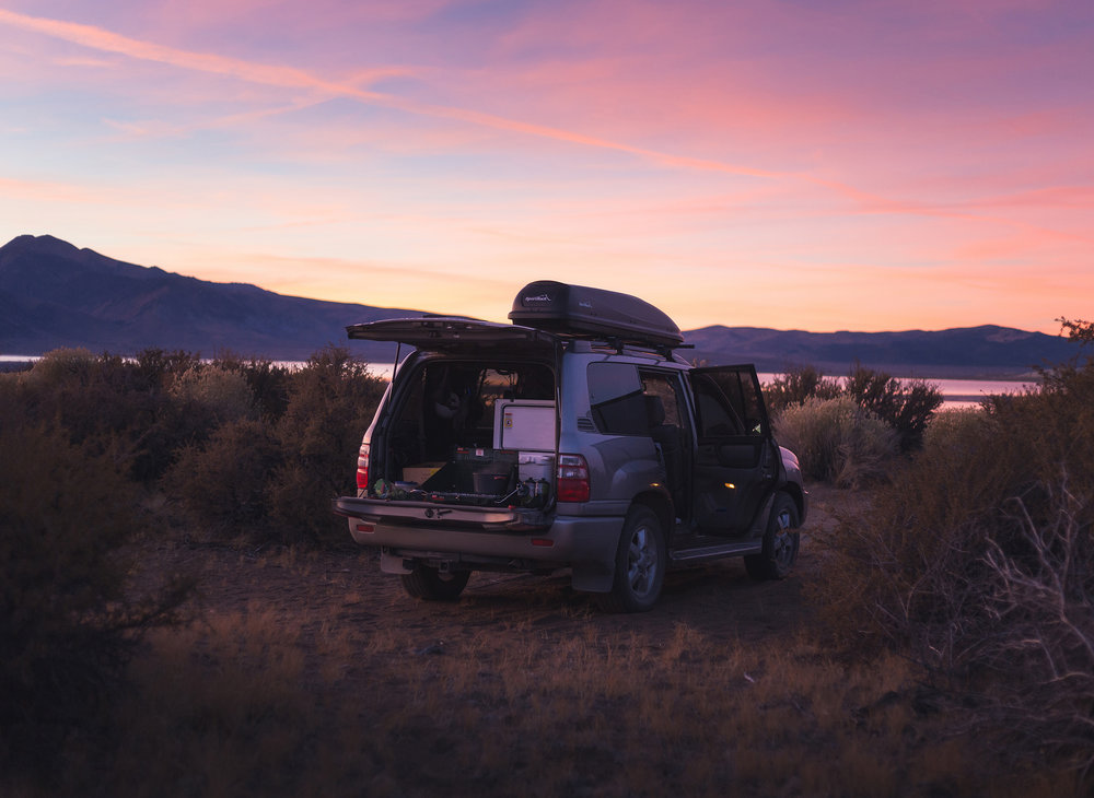 Our campsite on the south side of Mono Lake