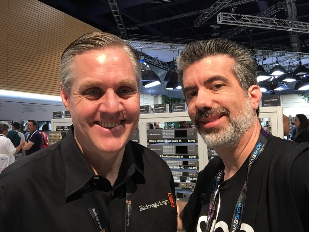 With Grant Petty, the Founder of Blackmagic Design. The man behind the magic.