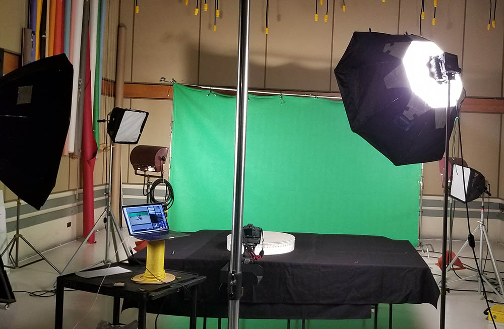 Animation rig set up in GP Studios, Studio B