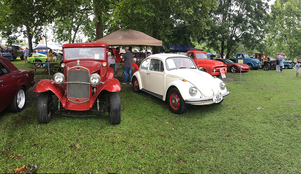 It was a little damp, but over 100 cars showed up for Glen's annual Brewton Car Show.