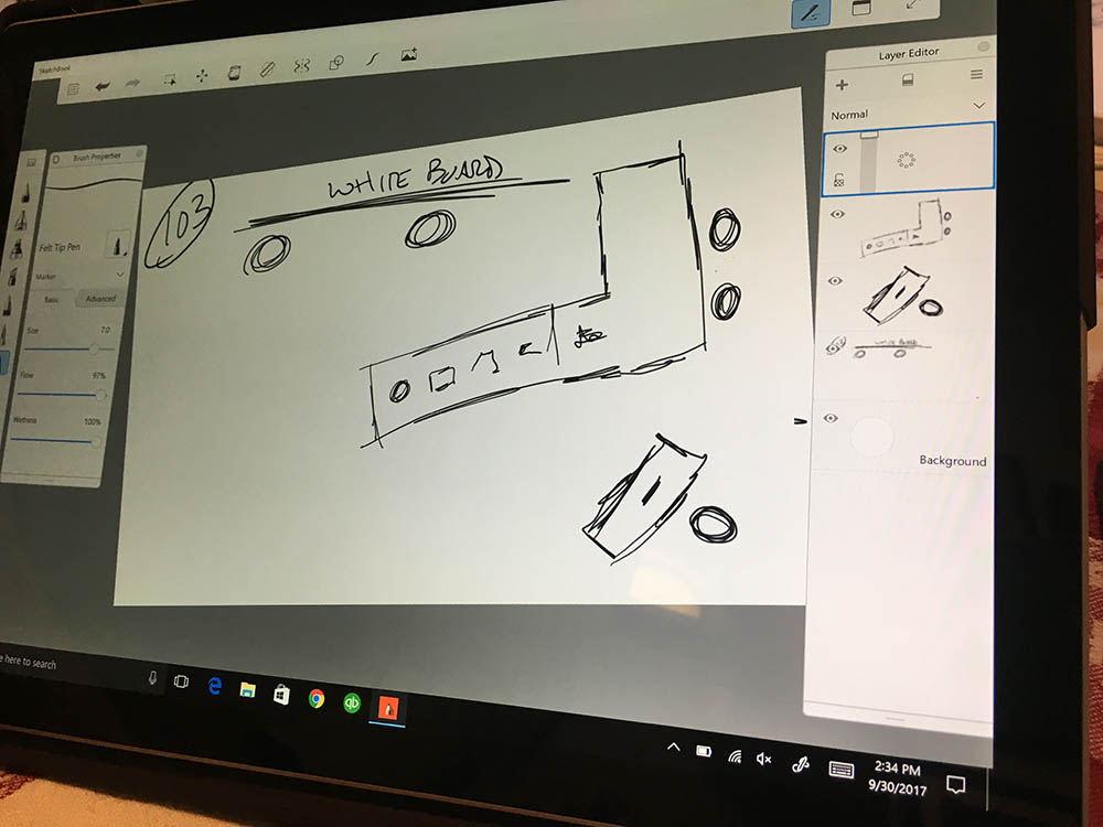 Using Sketch on the Microsoft Surface Pro