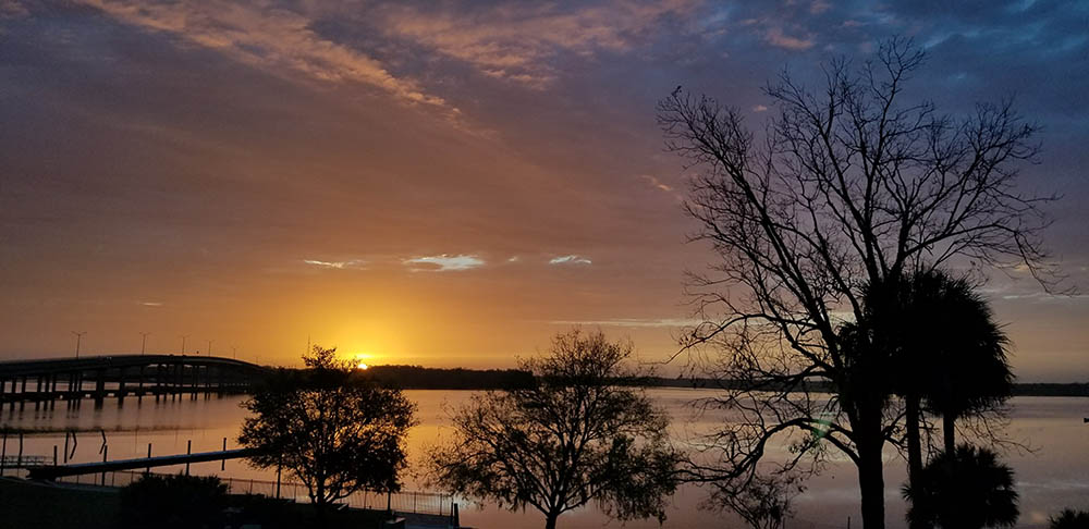 Simply stunning sunrise over the St. Johns River in Palatka Florida.