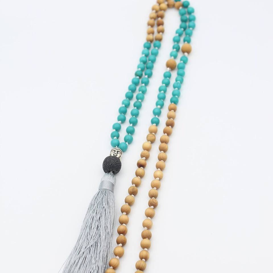 Mala Necklace Cedar and Stones Abbotsford BC