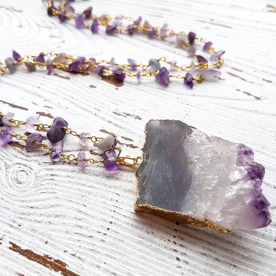 Amethyst Necklace, Under the Sun Jewelry