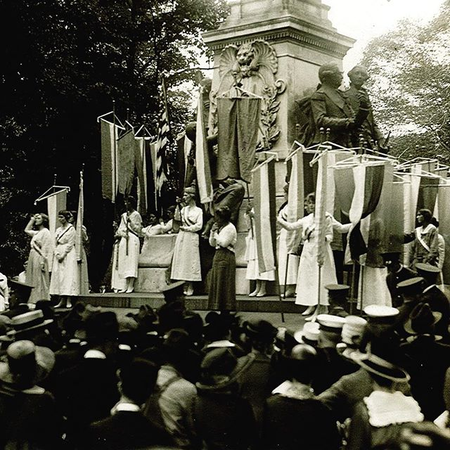 What were #womensrights activists doing #100years ago? National Woman's Party members, for one, were protesting in Lafayette Square, demanding action on women's right to #vote. 26 NWP members were arrested and thrown in jail during these demonstrations. #womenshistory #dchistory