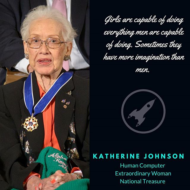 The National Woman's Party would like to honor Ms. Katherine Johnson - one of the incredible human computers who calculated (by hand!) the complex maths required to send John Glenn into space - and sends her an out of this world belated birthday wish. 🚀 Thank you for being a pioneer of both space flight and equal rights, and happy 100th birthday! #Herstory #NationalWomansParty