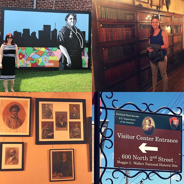 Today, NWP staff took a road trip to explore #womenshistory in #richmondva. As we approach the Centennial of the 19th Amendment, the NWP is focused on helping to elevate the local and state stories of the fight for women's suffrage and equality in communities across the country. (Photos from @maggiewalkernps)