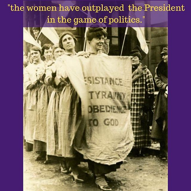 """Whatever one may think of the methods pursued by the militant suffragettes who have been trying to force the President to exert himself more vigorously in behalf of the equal suffrage amendment, it is evident that the women have outplayed the President in the game of politics. Last fall, when many of them were arrested and sent to the workhouse for carrying banners in front of the White House bearing quotations from the President's speeches, the Administration was compelled to release them from jail and after appeal to higher courts they won their cases. Following complaints made by the women the superintendent of the workhouse was dismissed."" -""Bossing the Boss,"" The Wilmington Evening Journal, reprinted in The Suffragist on September 7, 1918 #herstory #womenshistory #equality #civilrights"