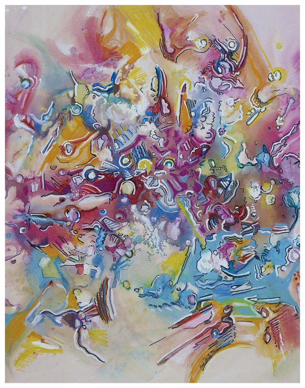 Cosmic Spring 1995 24x19 Mixed Medium