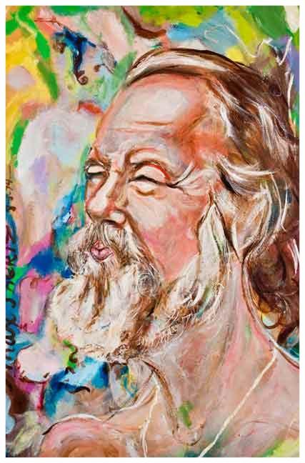 Blowing Bubbles [Self Portrait] 1975 Acrylic
