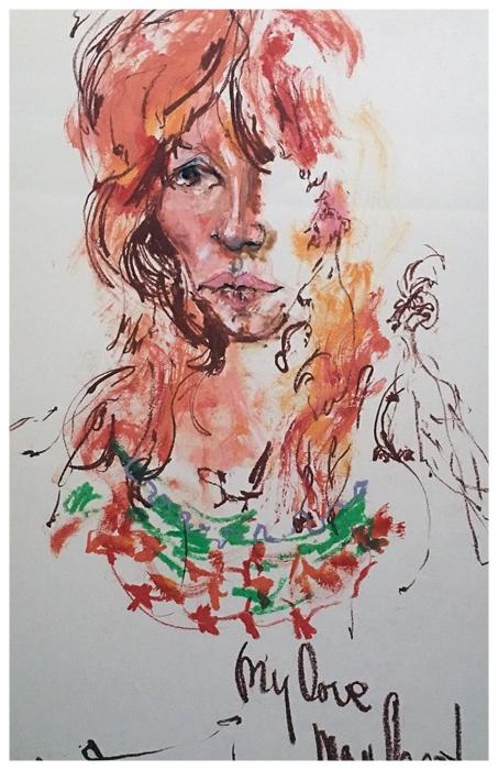 Christiane 1975 Mixed Medium