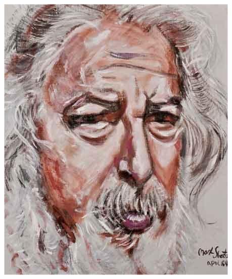 Self Portrait 1984 25x21 Acrylic