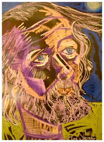 Self Portrait 1987 32x29 Pastel