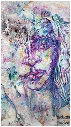 Christiane 1993 14x12 Mixed Medium