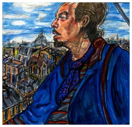 Max At The Beaubourg Museum Paris France 1993