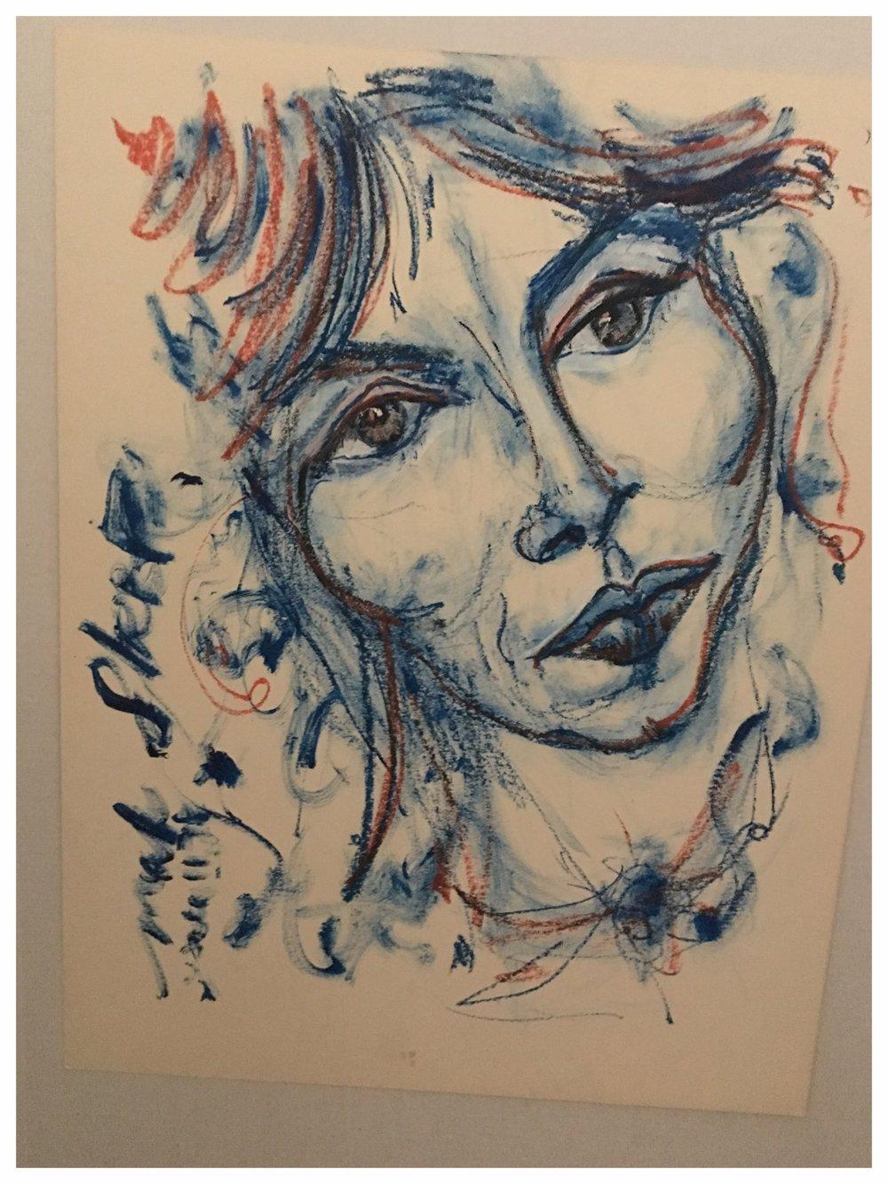 Christiane 1975 Pastel