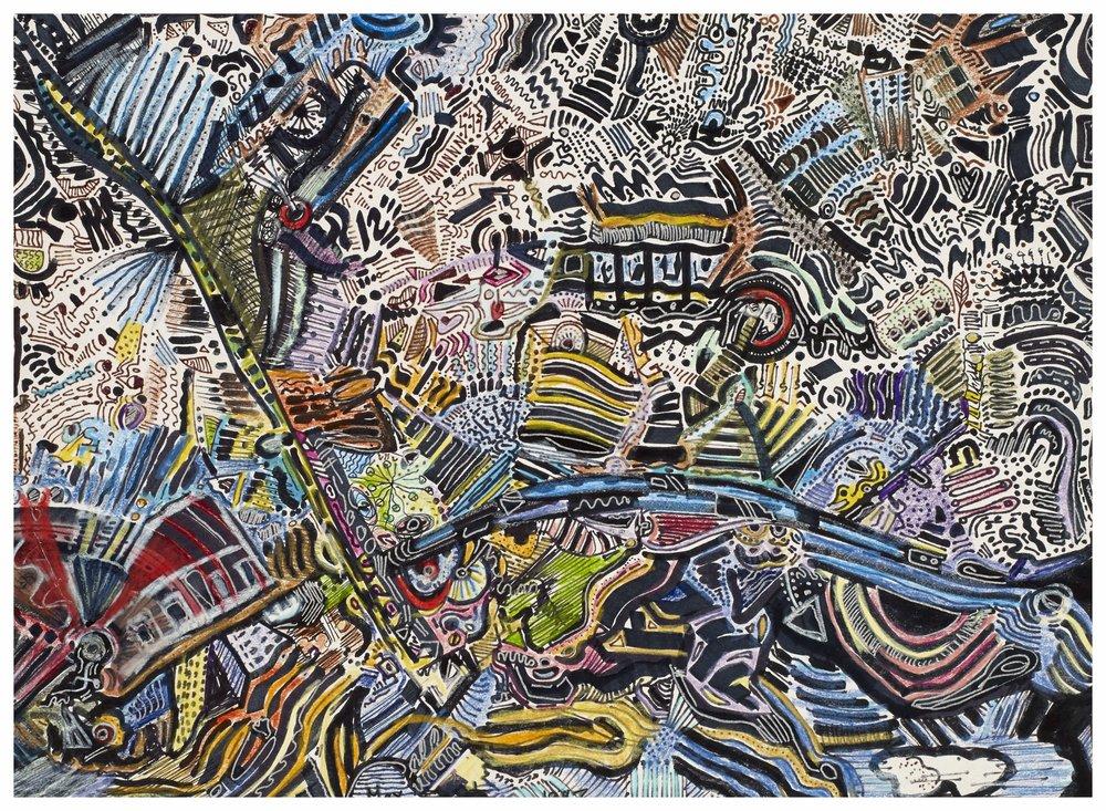 Train Ride 1997 10x13 Pens